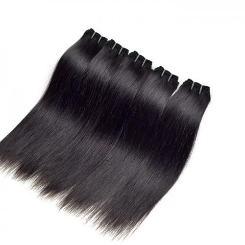 【Crystal 6A】 12-26 5 Bundles Straight Virgin Brazilian Hair Natural Black 300g