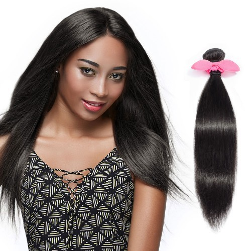 "【Crystal 6A】 10""-30"" 4 Bundles Natural Wavy 6A Virgin Brazilian Hair Natural Black 400g"