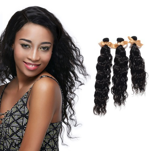 "COPY OF 【Platinum 7A】 10""-30"" 3 Bundles Loose Wavy Virgin Brazilian Hair Natural Black 300g"