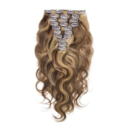 【Deluxe】 160g 20 Inch #4/27 Boday Wavy Clip In Hair